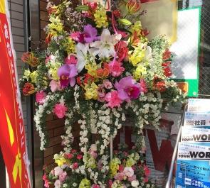 文京区千駄木 セブンイレブン文京千駄木店様の開店祝いスタンド花